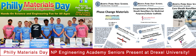 Engineering Academy Seniors to Presenta At Philly Materials Day at Drexel University!