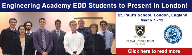 Engineering Academy EDD Students to Present in London